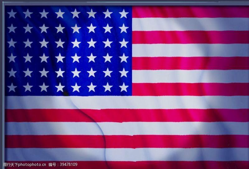分层美国国旗图片
