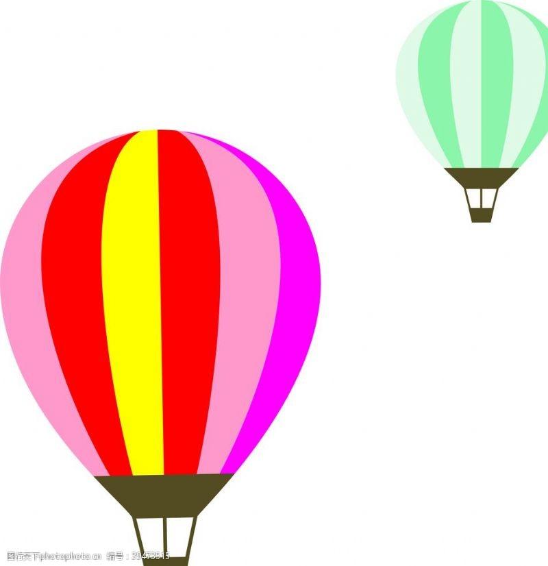 矢量热气球图片