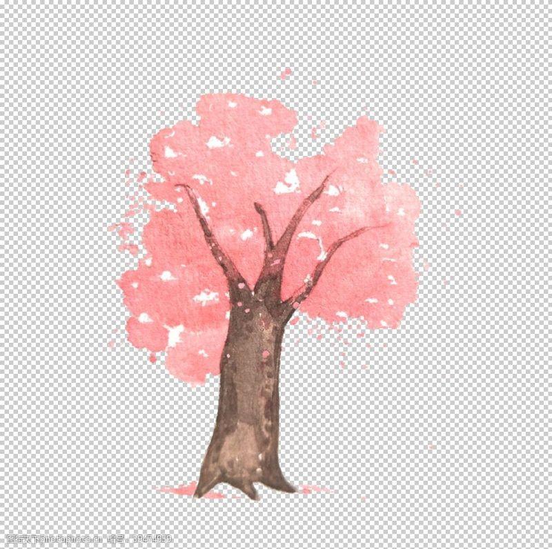 樱花背景手绘桃花图片