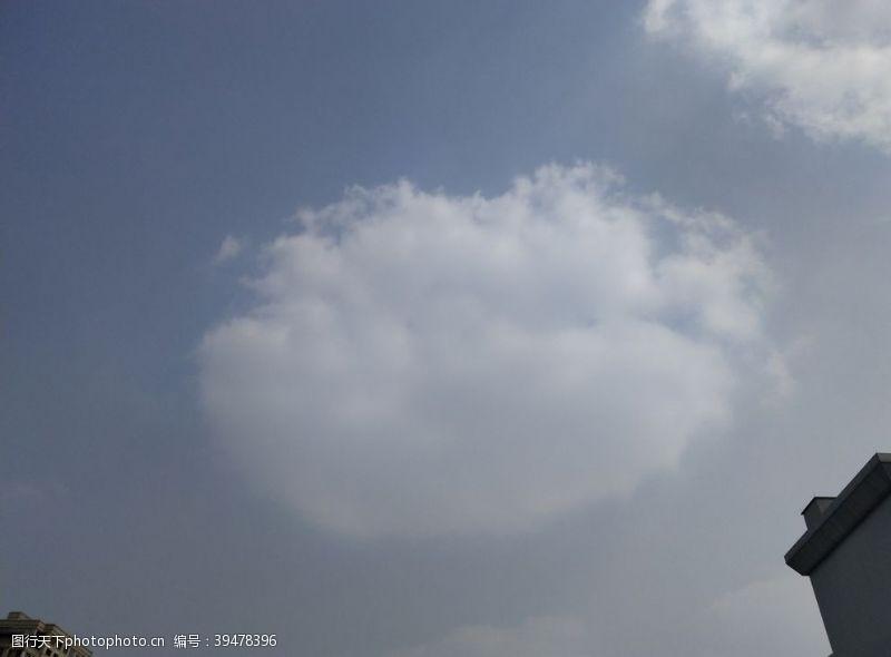 干净天空白云图片