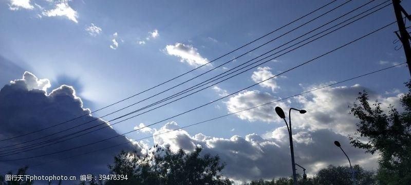 干净天空图片