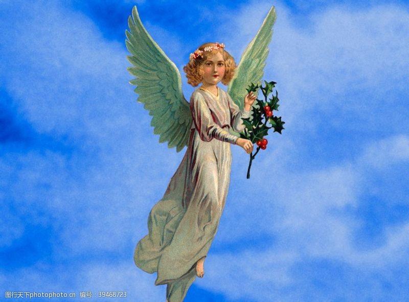 古典风格天使降福图片