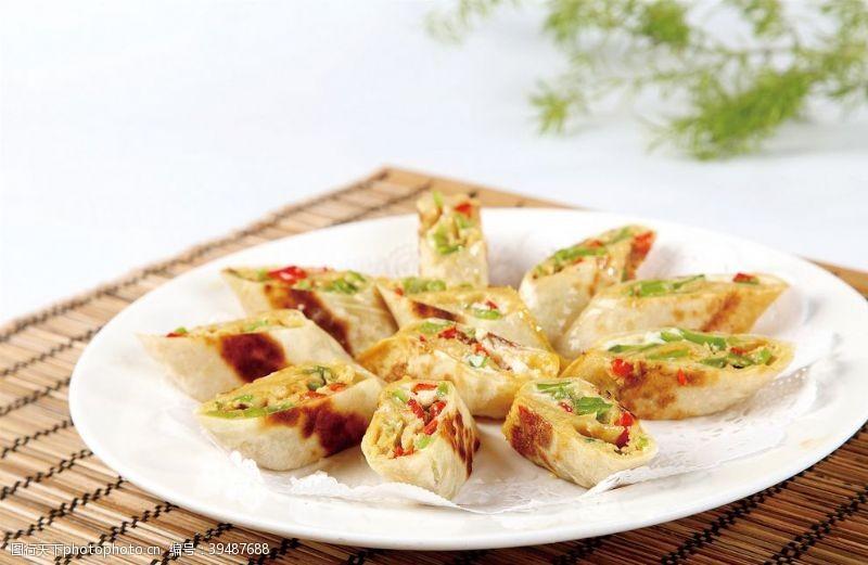 餐饮香煎辣椒卷图片