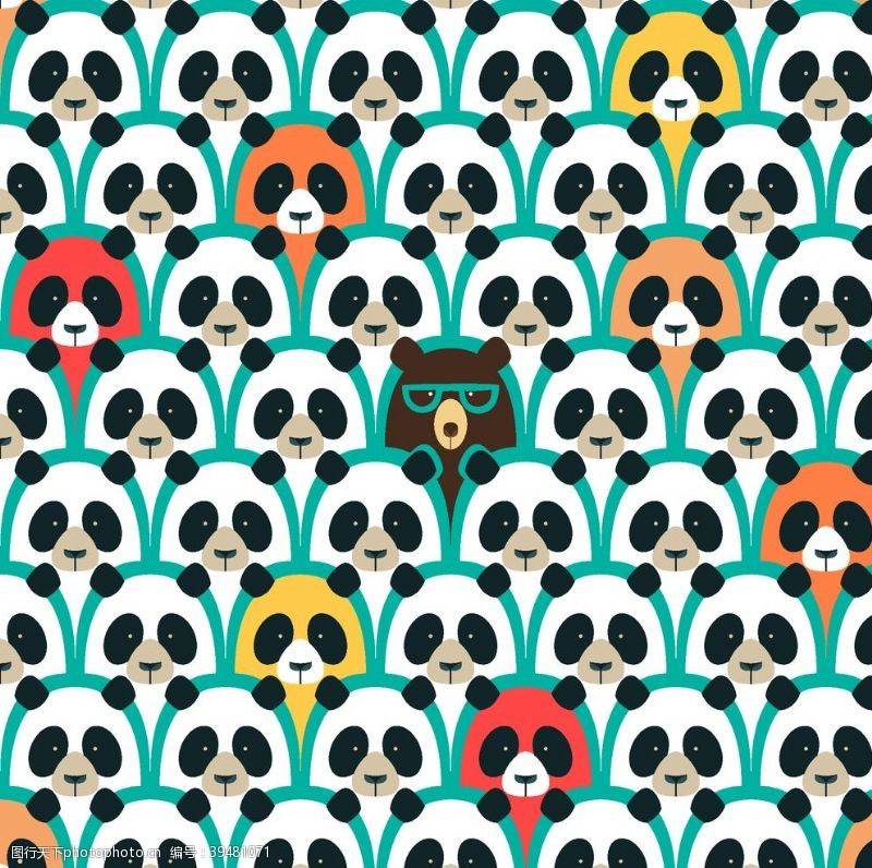 矢量熊猫图片