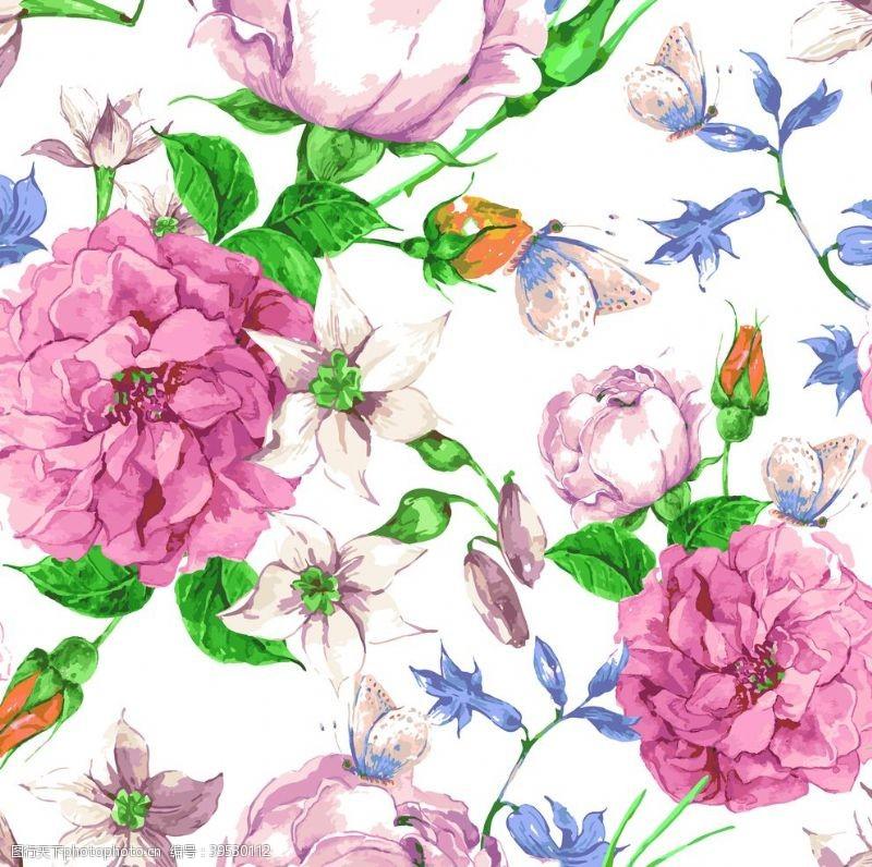 花型大朵牡丹月季绣球花图片