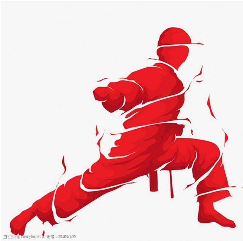 跆拳道打拳的功夫男人图片
