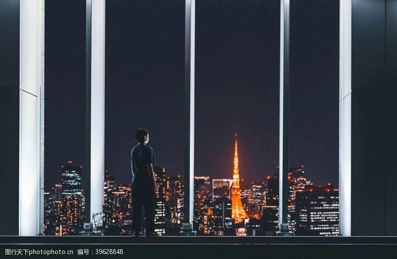 日本旅游东京都夜景图片