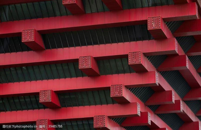 宫殿门梁传统复古建筑背景素材图片