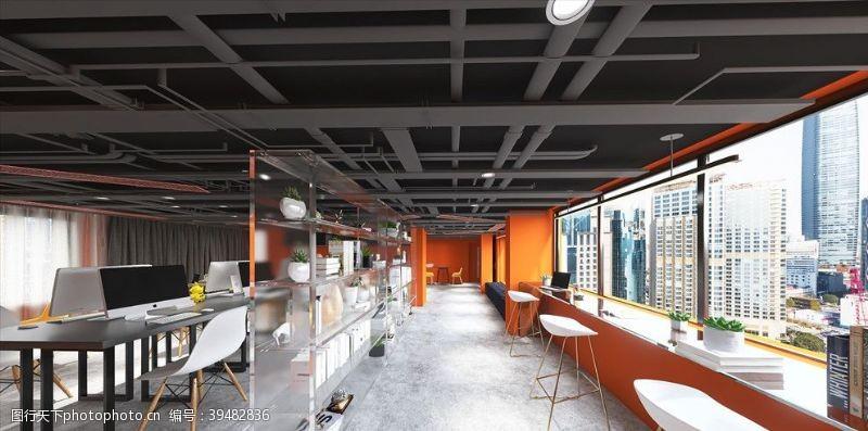 办公室设计工业风办公空间图片