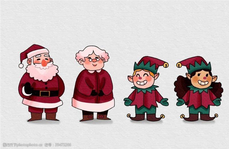 女孩可爱圣诞节角色图片