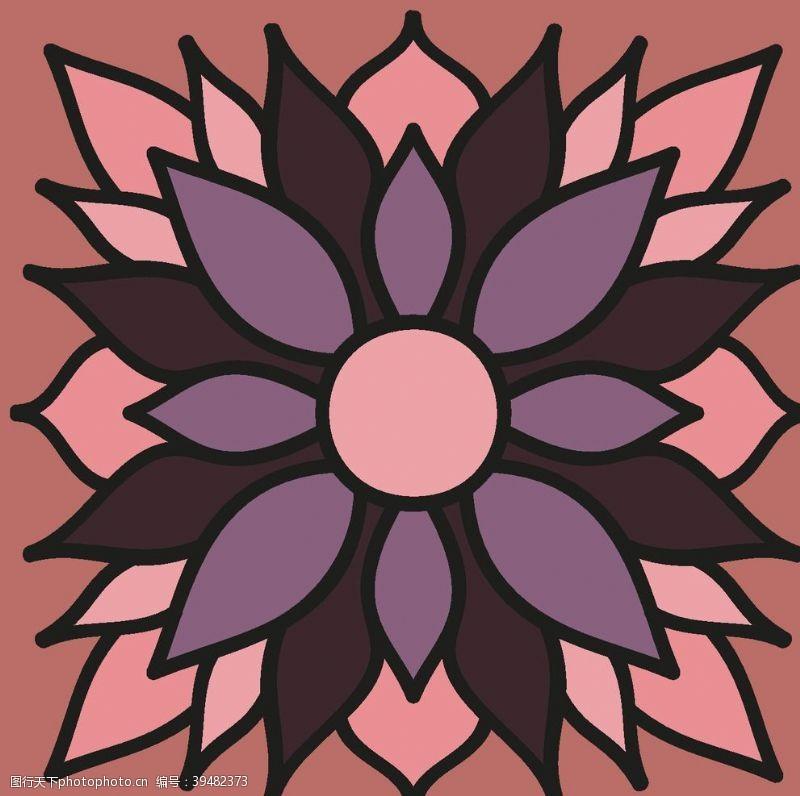 经典民族古典花纹底纹背景图片
