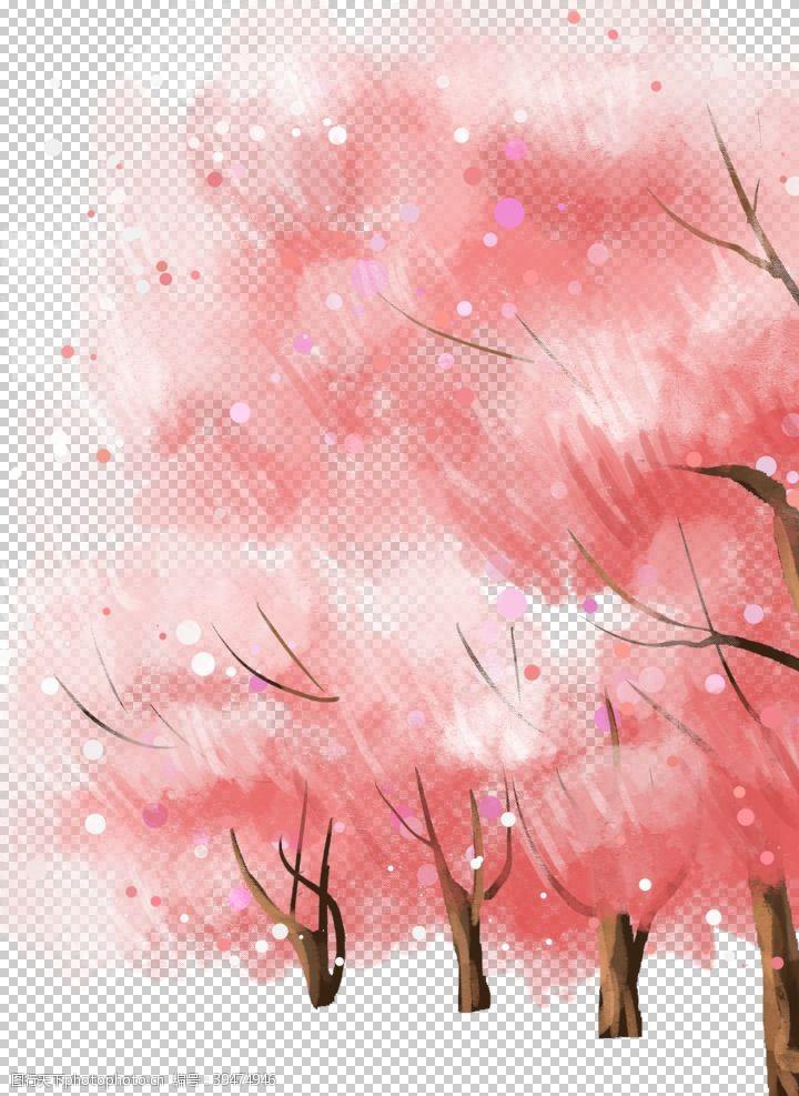 赏樱花樱花素材图片