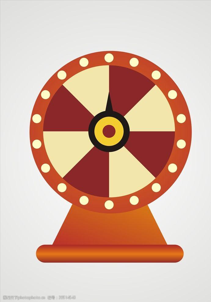 大转盘抽奖抽奖转盘元素设计图片