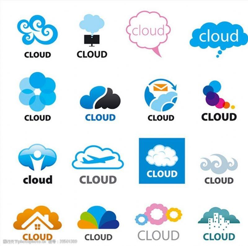 企业商标创意云形标志图片