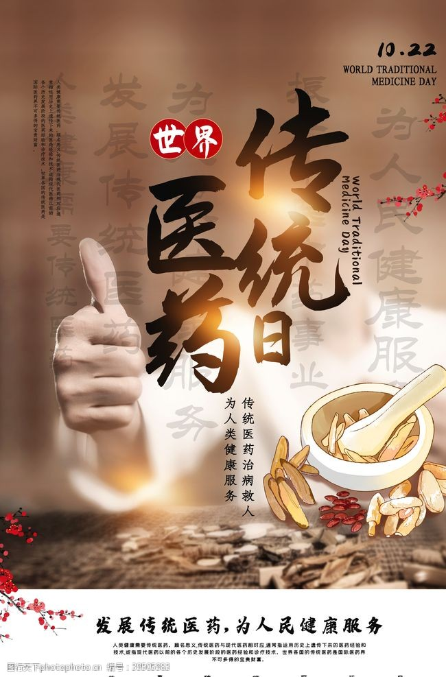 中医药文化传统医药日海报图片