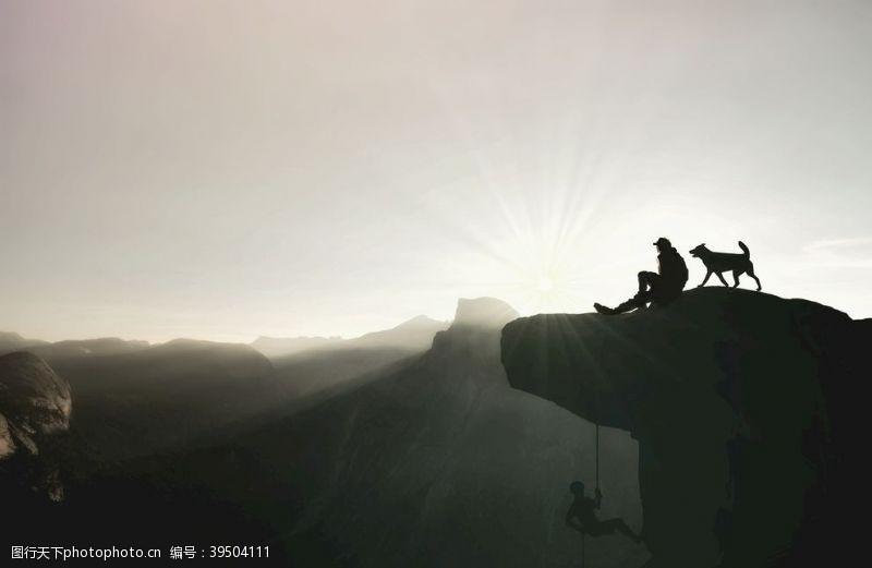 登山者登山图片