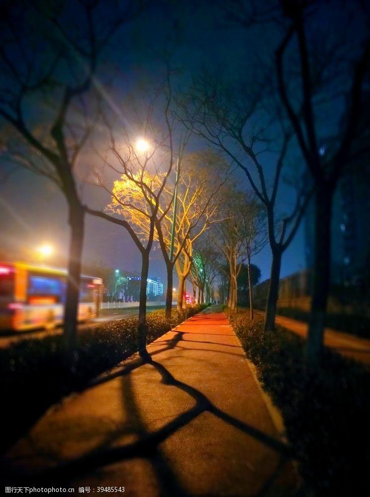 冬季的夜晚图片