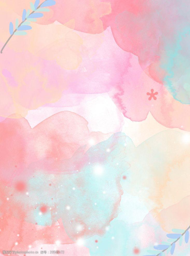线条背景粉色水墨背景图片