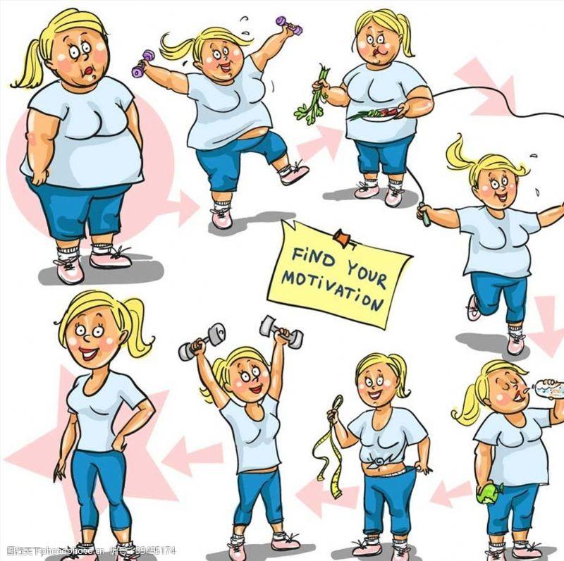 锻炼身体减肥图片