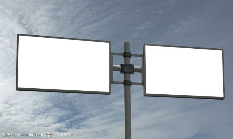 展示空白广告牌图片