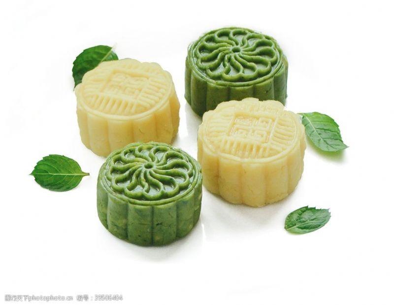 冰皮绿豆糕糕点PNG素材图片