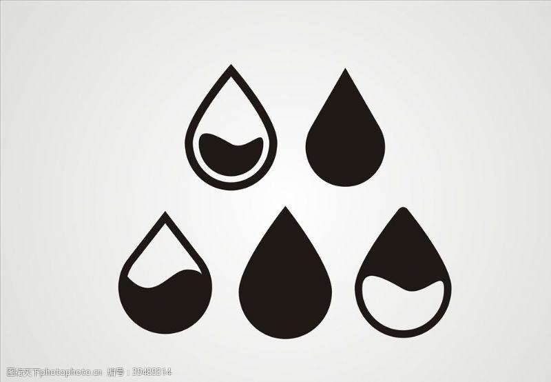 矢量水滴元素素材图片