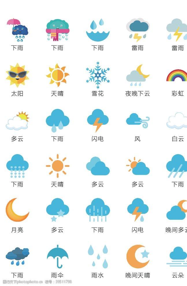 天气预报图标图片