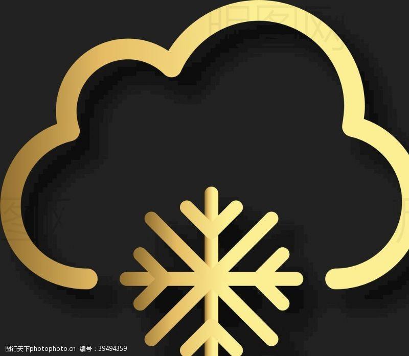 天气预报下雪图片