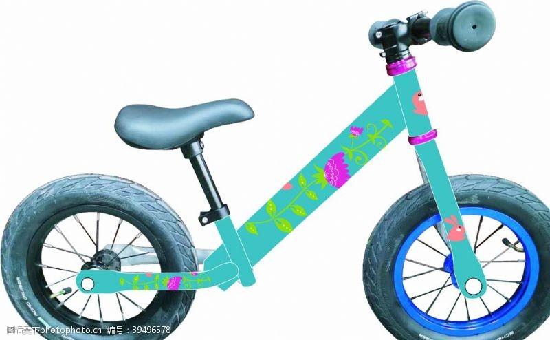 自行车学步车蓝图片