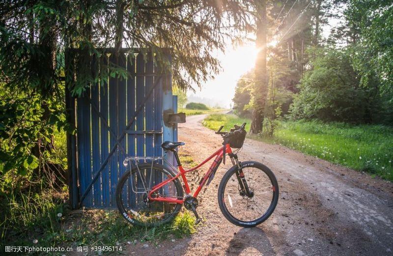户外骑行自行车图片
