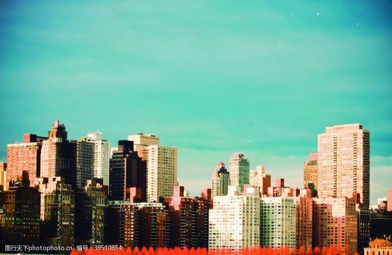 城市建筑景观高楼背景素材图片