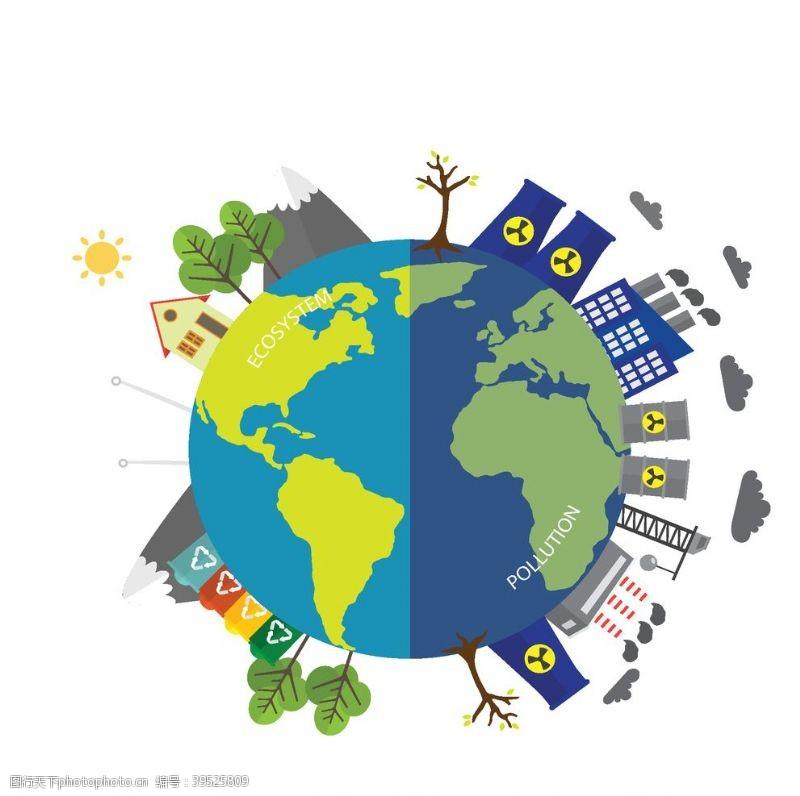风车地球环境污染图片