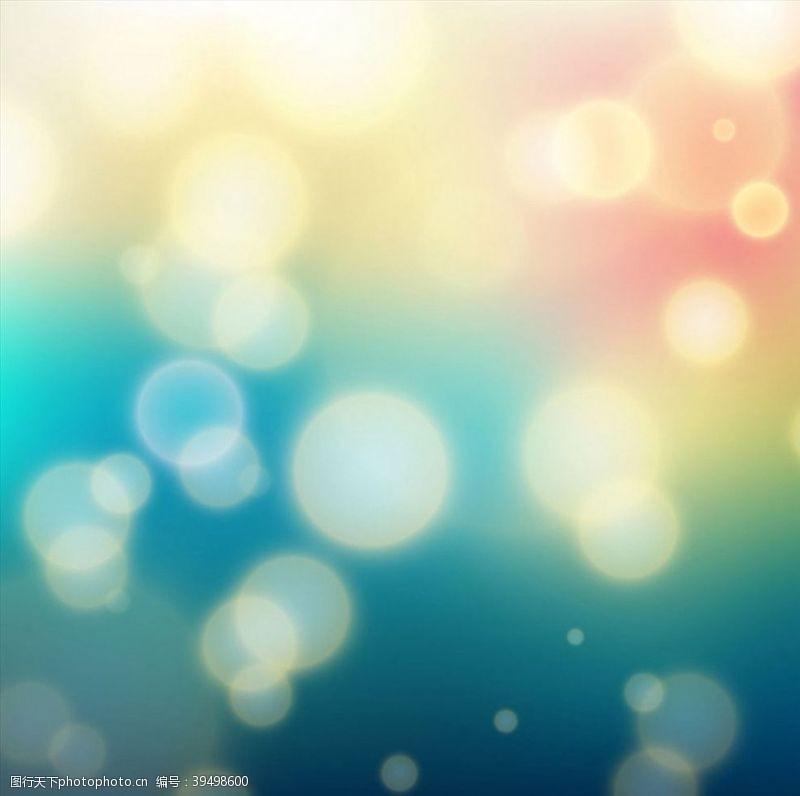 光点梦幻炫彩背景图片