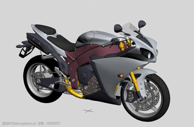 雅马哈摩托车3D模型图片