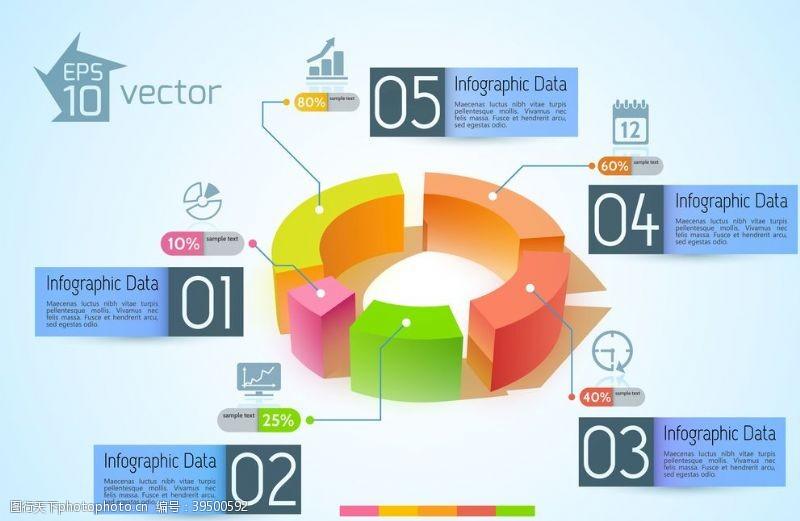市场营销信息图模板流程图片