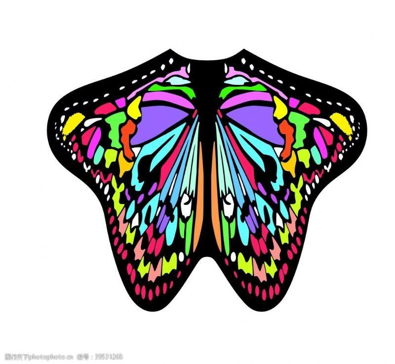 花型蝴蝶图片