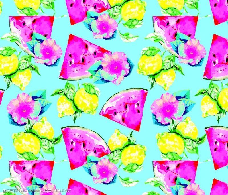 花型手绘西瓜图片