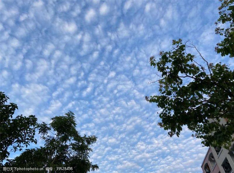 自然风天上的棉花糖图片