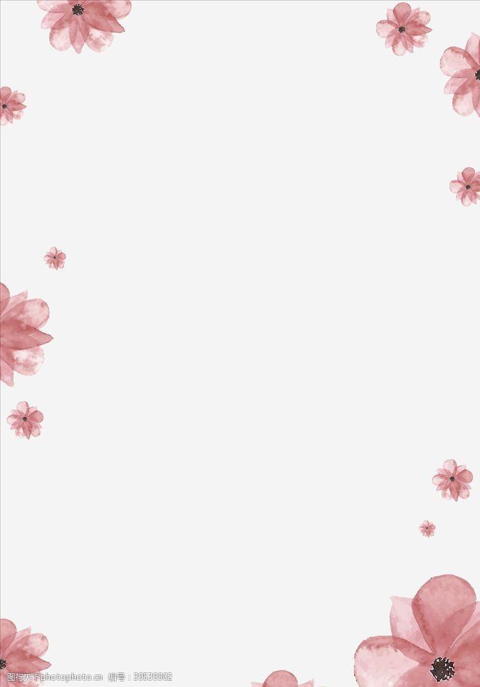 影楼素材简约花朵背景素材图片