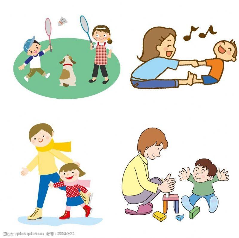 儿子母亲与孩子图片