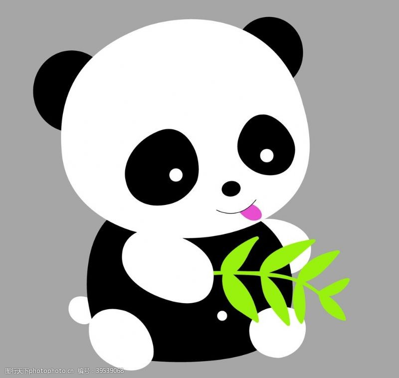 动物卡通画熊猫图片