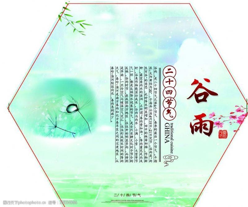 传统节日海报谷雨图片