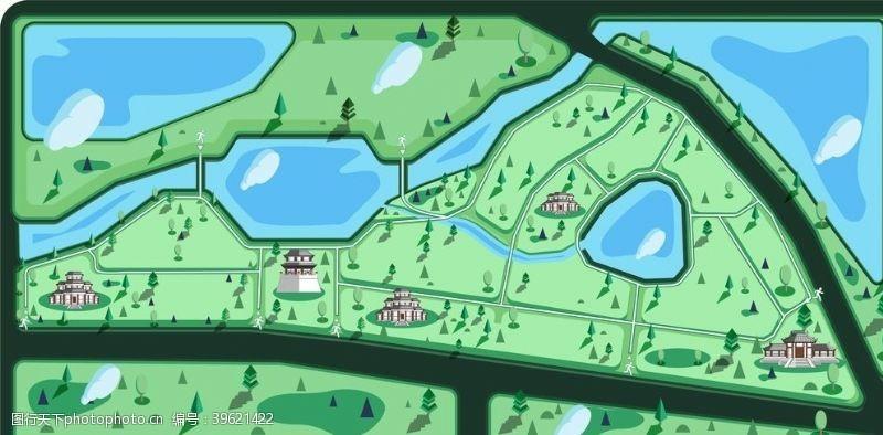 矢量小插图扁平插图草坪公园图片
