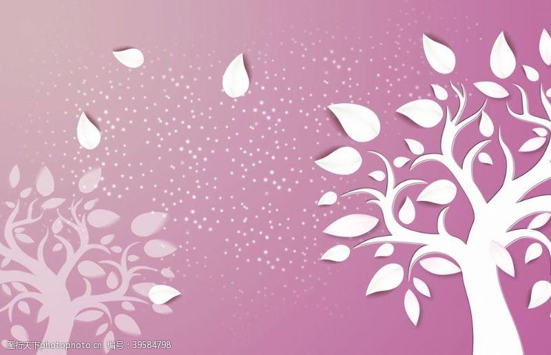 北欧背景墙壁纸花纹图片