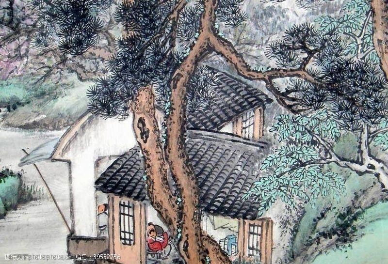 高清山水字画图片