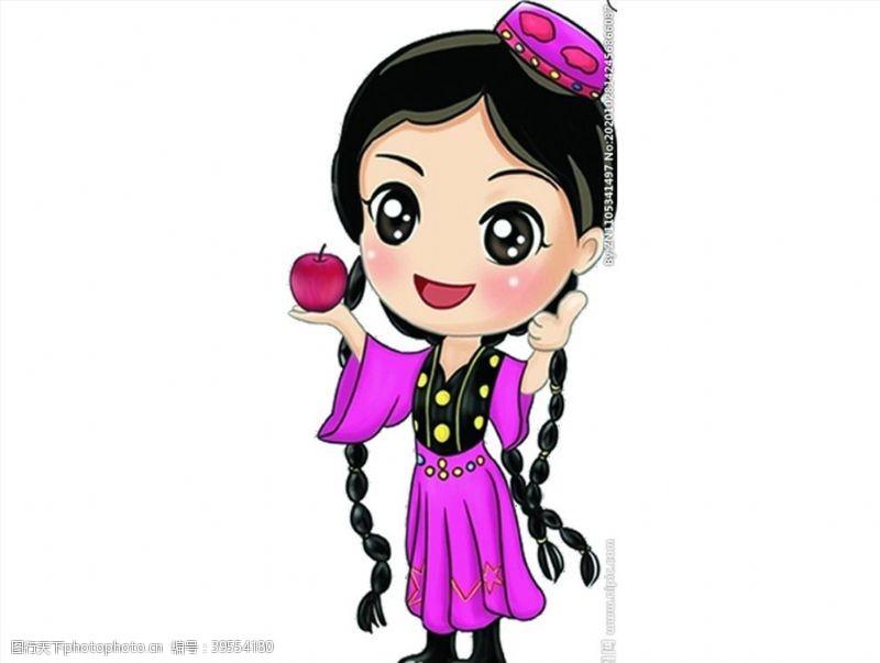 民族服饰新疆美女图片
