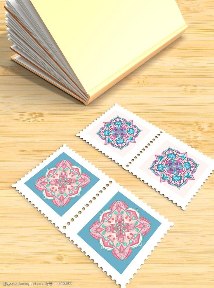 复古邮票邮票样机图片