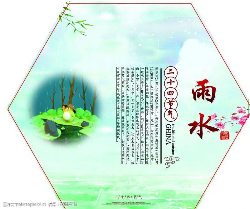 传统节日挂历雨水图片