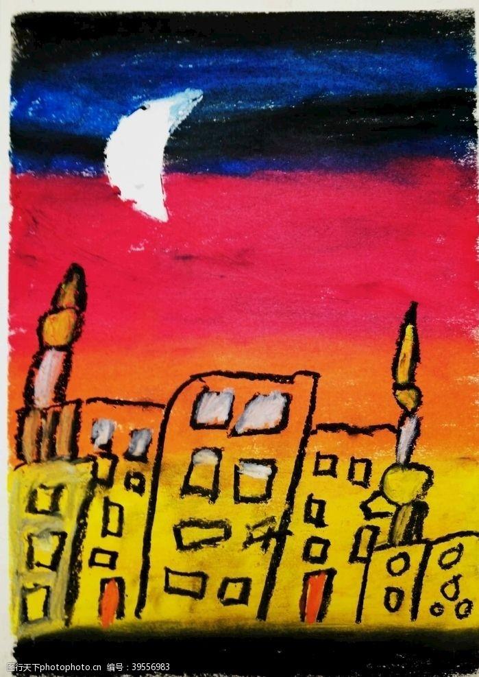 儿子城市夜景图片