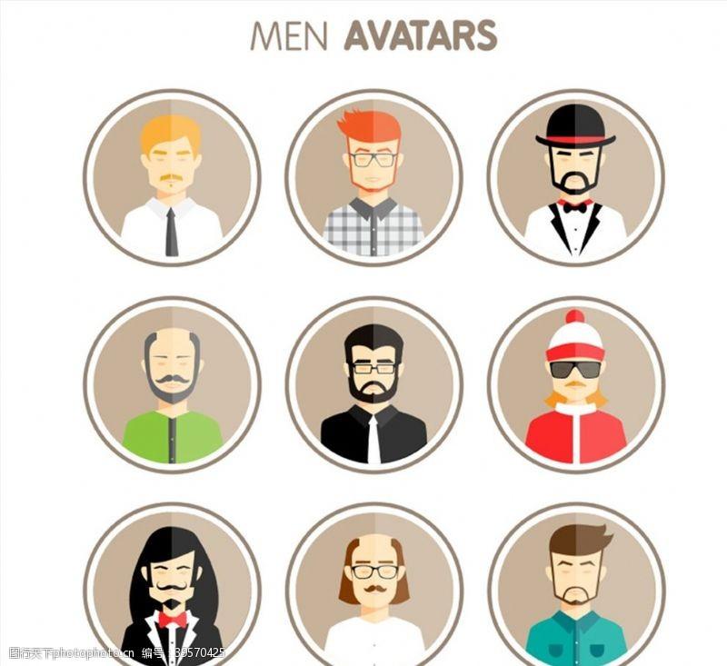 卡通男子头像图标图片